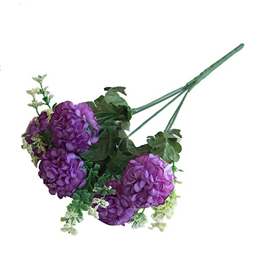 WuWxiuzhzhuo Heißer 1 Bouquet Künstliche Gefälschte Chrysantheme Blume Pflanze Home Office Party Decor Purple