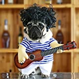 Idepet Funny Guitar Dog Costumes Pet Clothing Dog Clothes Suit for Puppy Small Medium Dogs Chihuahua Teddy Pug Christmas Party Halloween Costumes Outfit (M)