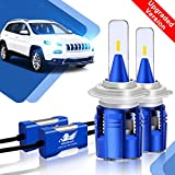 2X H7 LED Auto Scheinwerfer Birnen Kit - Winpower - LED Licht Umbausatz 12V (Eingebaut Canbus) Auto/KFZ/Motorrad/Fahrzeug Hell Ersetzt Halogen/HID Lampen