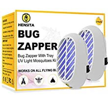 HENSITA Electronic Bug Zapper, Indoor Insect Trap for Mosquitoes, Fruit Flies and Flying Gnats, Fly and Insect Zapper for Indoor Outdoor with UV Light
