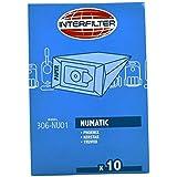 Interfilter Hoover Sac Pour Numatic réservoir vide Maître Numatic 479 EL40 5 par paquet