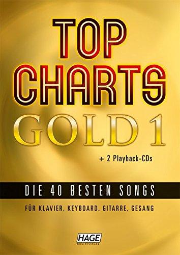 Top Charts Gold 1 + 2 CDs + Midifiles (USB-Stick): Eine geniale Sammlung der 40 besten Popsongs der letzten Jahre für Klavier, Keyboards, Gitarre oder Gesang