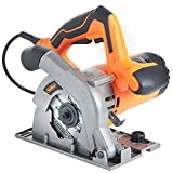 VonHaus 1050W Circular Saw 110mm 240V Multi-Purpose Plunge 28mm with Track Guides Jig