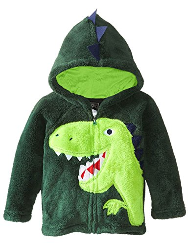 COCM10 Baby Boys Jacket Coats Kids Dinosaur Coral Fleece Hoodies Toddler Winter Outerwear UK Size 1-6 Years
