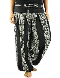 Pantalon bouffant de virblatt en taille unique pour les femmes, S - L pantalon ethnique avec motif, vêtements ethniques et Yoga Friedvoll