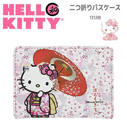 Sanrio Hello Kitty Bus Kartenetui für Kartenausweis, Motiv: Kitty Japanischer Kimono und Sakura 01 -