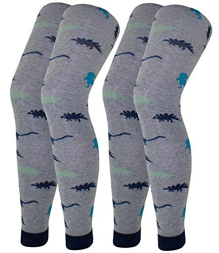 (EveryKid Ewers 2er Pack Jungenleggings Sparpack Leggings Markenleggings Strumpfhose Freizeithose für Kinder (EW-901064-W17-JU0-3400-3400-92/98) in Grau-Grau, Größe 92/98 inkl Fashionguide)