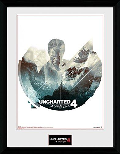 Preisvergleich Produktbild 1art1 100306 Uncharted - 4, Boats Gerahmtes Poster Für Fans Und Sammler 40 x 30 cm