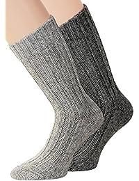 kb-Socken - 2 Paar Alpaka Socken für Herren und Damen in verschiedenen Ausführungen dick oder dünn gestrickt mit Alpaka Wolle Socken in Naturfarben