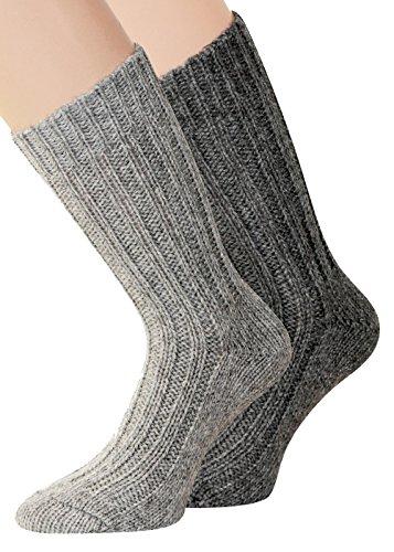 (39-42, silber/grau) - Angora Socken