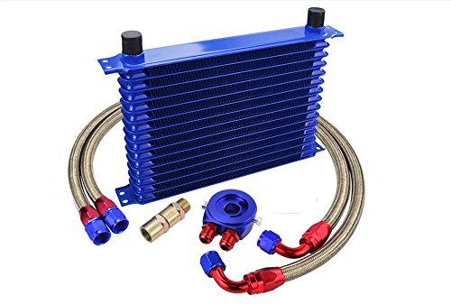 Kit Radiatore Olio Universale 13 Righe per Auto e Moto Oil Coo