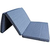 Loop® Linens Kids Play Area Blue 3X6 Feet 3 Fold Mattress For Gaming Area/Kids Room/Padding Support