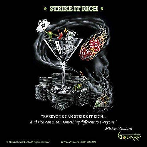 Strike it Rich Michael Godard Humor Funny Cocktail Glücksspiel Fantasy Print Poster 30,5x 30,5 (Artwork Godard Michael)