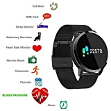 Smartwatch,TKSTAR Bluetooth Smart Watch Sport Armband Online Activity Tracker mit Touch Screen für iPhone IOS und Android Frauen Herren Schrittzähler Kalorienzähler Blut Druck Herzfrequenz Monitor