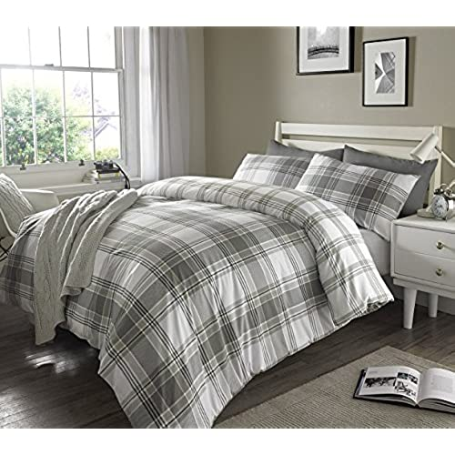 grey check stripes ticking duvet cover u0026 pillowcase set bedding digital print quilt case single double king bedding bedroom daybed king by pieridae