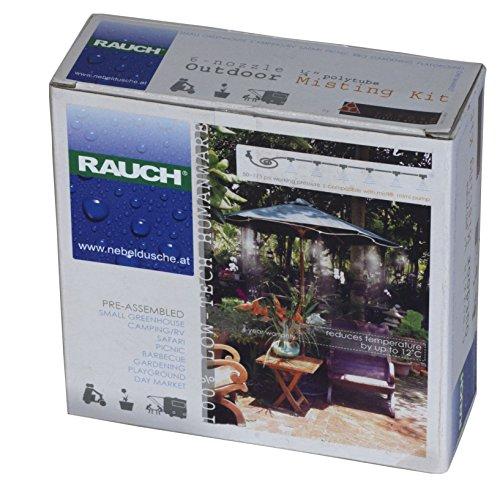 RAUCH Sprühnebel Freibereich Kühlung Nebeldusche Set mit 6 Düsen+Schlauch