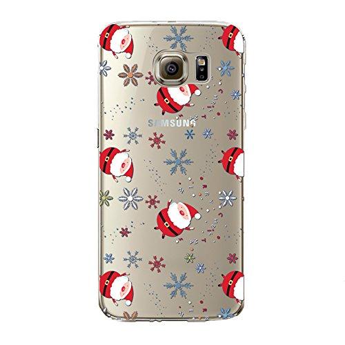 Coque iPhone 6/6S , iNenk® Bande dessinée de Noël Creative Trade Ultra mince Housse de protection souple peinte TPU Mode cadeau de bonhomme de neige de Santa Joyeux Noël mignon-modèle 15 Motif 14