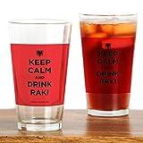CafePress–Keep Calm and Drink Raki–Pint-Glas, 16oz Trinkglas farblos