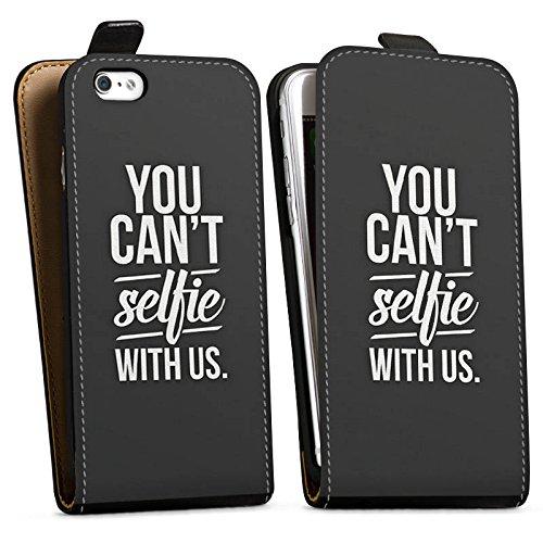 Apple iPhone X Silikon Hülle Case Schutzhülle Sprüche Selfie Schwarz Downflip Tasche schwarz