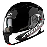 Astone Helmets RT1200G-TOBWL Casque Modulable RT1200 Touring, Noir Blanc, L