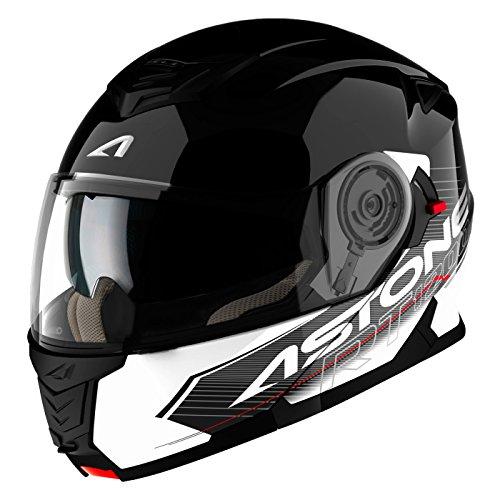 Astone Helmets Touring diadema, color Negro/Blanco, talla M