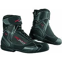 A-Pro Wasserdichte Schuhe Motorrad Stiefel Sport Touring Roller Schwarz 43