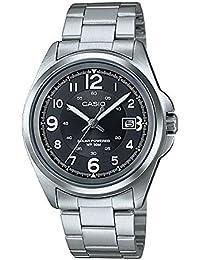 CASIO MTP-S101D-1B - Reloj de pulsera, para hombre, color negro y plateado