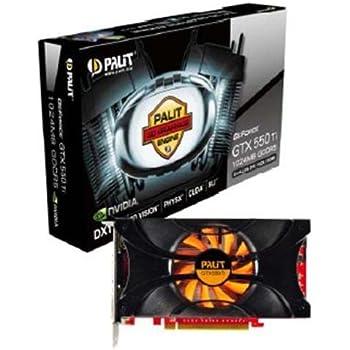 Palit NVIDIA GeForce GTX550 TI Grafikkarte (PCI-e, 1GB, GDDR5 Speicher, HDMI, DVI, 1 GPU)