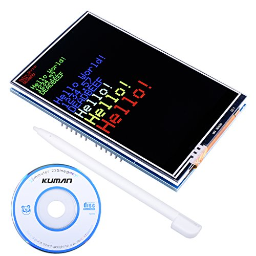 Kuman UNO R3 3.5' Pantalla Táctil TFT con Conector de Tarjeta SD y Función del Táctil para Arduino Mega 2560 Board Módulo SC3A-1