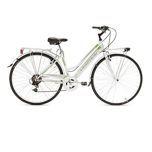 BICICLETA VERTEK TRENDY MUJER 287VELOCIDAD COLOR BLANCO/VERDE (CITY)/BICYCLE TRENDY FOR WOMAN 287SPEED WHITE/GREEN (CITY)