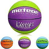 Meteor Palla Basket Pallone da Basket Palla da Basket Basketball - Taglia 3 - Dimensione Bambini & Giovani da Basket Ideale per Formazione Pallacanestro Layup (3, Verde Violetta)