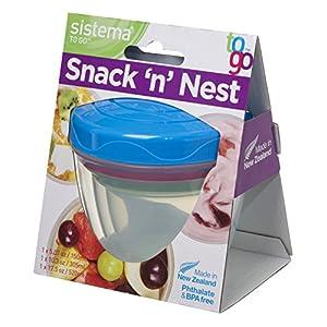 Sistema Aufbewahrungsdosen Snack'n'Nest 3er-Set, Kunststoff, Mehrfarbig, 150 ml, 305 ml, 520 ml