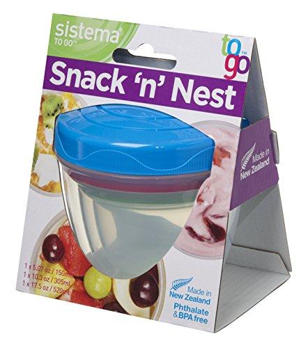 Sistema SI21483Snack'n'Nest Vorratsbox Kunststoff bunt, 45x 35x 25cm 3-teilig