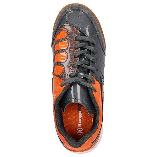 KangaROOS DIVIDED B 1172A unisexe enfant de chaussures de sport chaussures de sport Gris - dark grey/orange/black