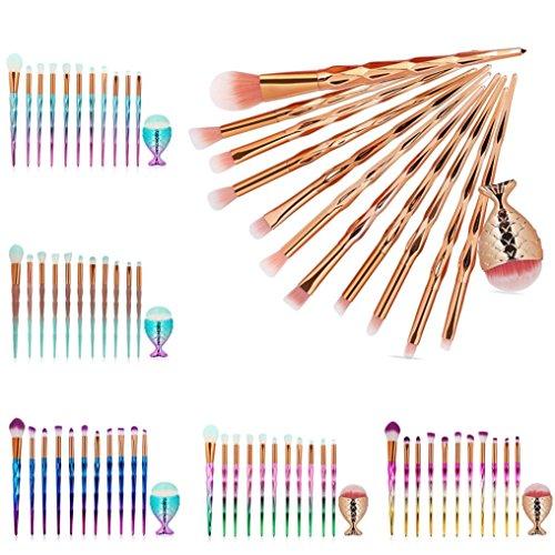Rosennie 20 Pcs Bilden Bürste Set Werkzeuge Toilettenartikel Ausrüstung Wollel Gold (E)