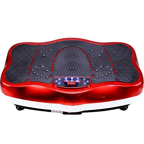 ZHLXZ Vibrationsplatte,Vibrationstrainer Ganzkörper Trainingsgerät,Trainingsbändern Fernbedienung Integrierter Lautsprecher Fettabbau,Gewichtsreduzierung,B