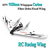 LITEBEE SonicModell CF Wing, FPV Flying Wing 1030mm Wingspan (EPP Molded, Carbon Fiber fuselage FPV Flywing) Super Violence RC Airplane Plane Wing --- PNP