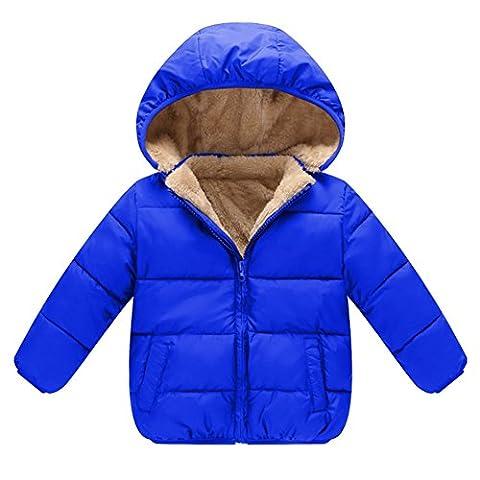 Brightup Enfants Bébé Garçon Fille d'hiver Veste à capuche Épaississement Outwears Manteau Polaire