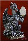 Designer Tischlampe Drache Lampe Dragon Gothic Tischleuchte Stehlampe