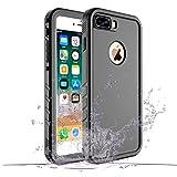 Wigoo Coque Antichoc iphone 7 Plus Coque Etanche iphone 8 Plus imperméable Protecteur d'écran pour iPhone 7 Plus/8 Plus(Noir)