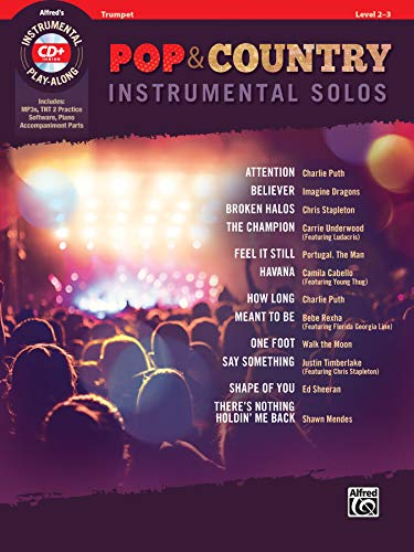 Pop & Country Instrumental Solos Trumpet: Book & CD (Pop & Country Instrumental Solos, Level 2-3) (Bluegrass-instrumental-cd)