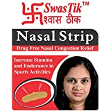 Swastik Nasal Strips For Nasal Congestion Relief, Drug Free (Pack Of 30 Strips)