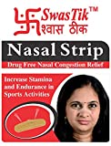 #8: Swastik Nasal Strips For Nasal Congestion Relief, Drug Free (Pack Of 30 Strips)