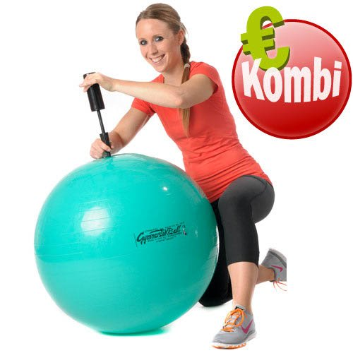 Original Pezzi Gymnastik Ball 65cm plus Pumpe Sitz Therapie Pilates Aerobic grün -