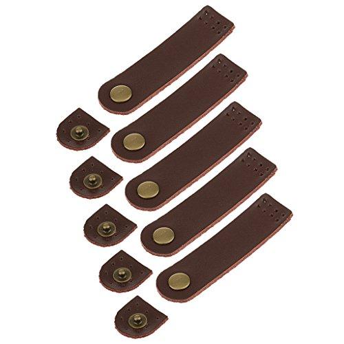 B Baosity 5 Sätze PU-Leder Verschlüsse Lederschnallen zum selber basteln Taschenverschluss - Hellbraun, one Size