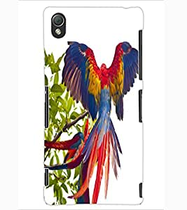 ColourCraft Beautiful Parrot Design Back Case Cover for SONY XPERIA Z3