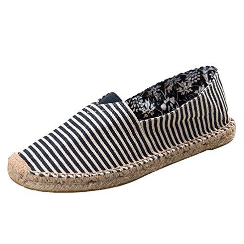 Dooxii Unisex Hombre Mujer Amantes Ocasionales Loafer Zapatos Moda Planos Alpargatas 4025cm