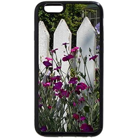IPhone/6S iPhone 6, colore: nero, colore: viola con motivo floreale da recinzione