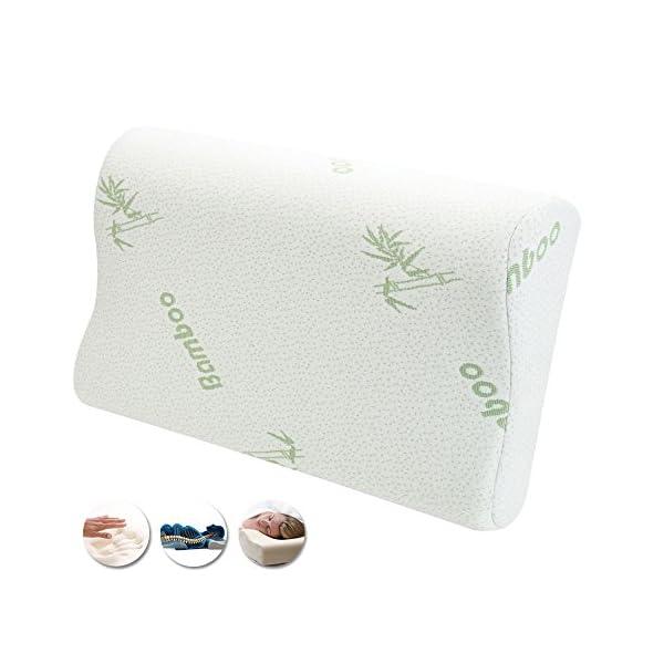 comodo e lavabile morbido Air Layer anti-russamento Cuscino cervicale in schiuma memory e bamb/ù