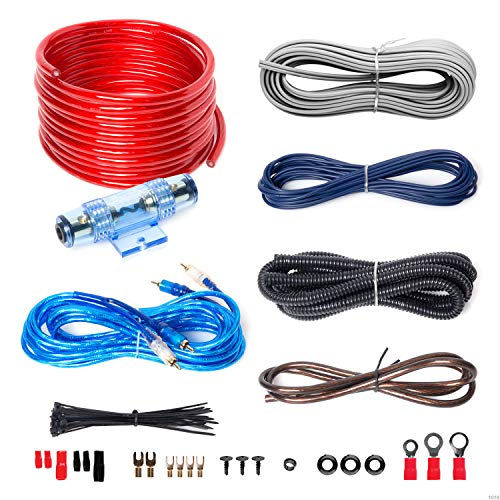 BOSS AUDIO KIT2 8 Gauge/ 3,27 mm Auto Installations-Set Verstärker Endstufe Kabel Anschlusskabel Cinch Kabel, Mehrfarben Cap Car Audio